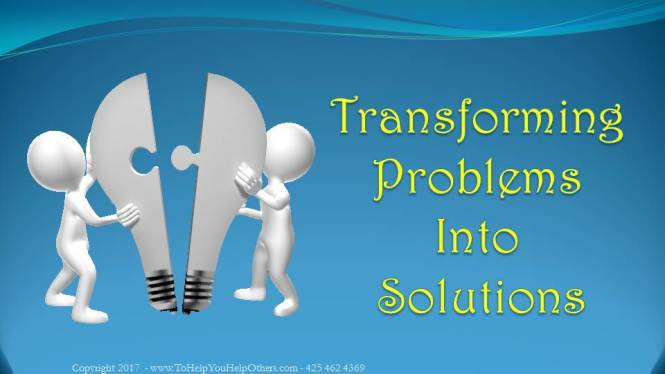 Cover Transforming Problems Into Solutions